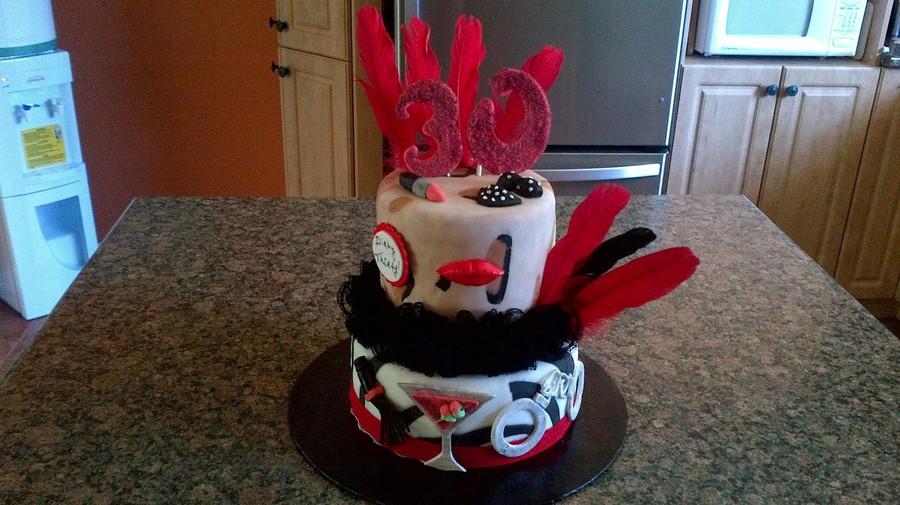 Surprising Dirty 30 Birthday Cake Cakecentral Com Funny Birthday Cards Online Hetedamsfinfo