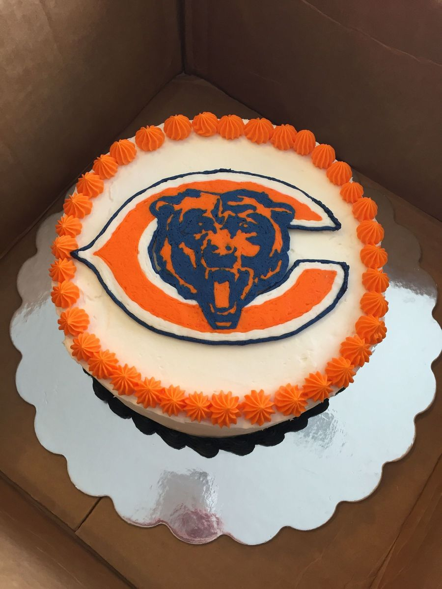 Terrific Chicago Bears Birthday Cake With Frozen Buttercream Transfer Personalised Birthday Cards Petedlily Jamesorg