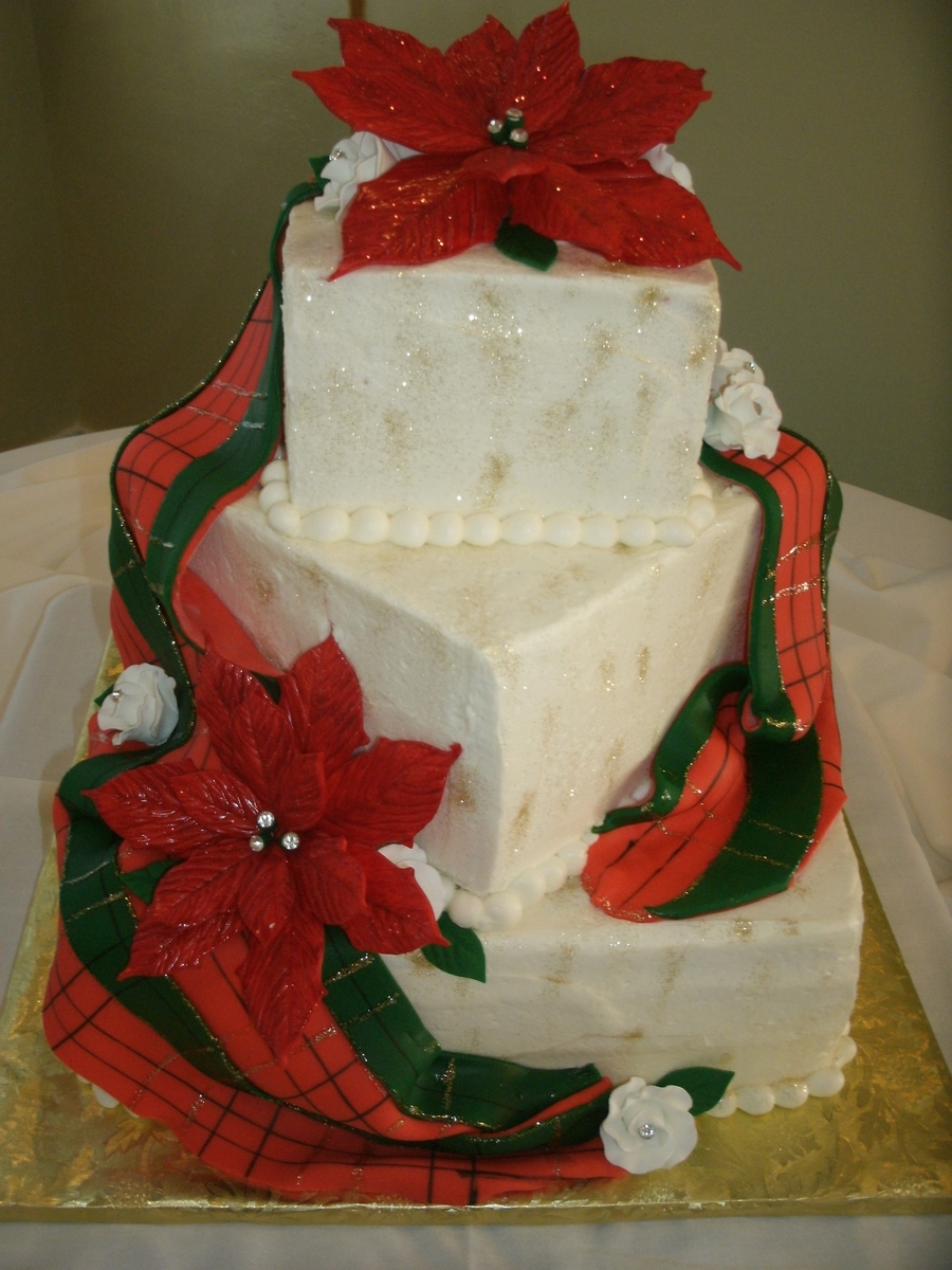 Blissful Christmas Wedding Kake on Cake Central
