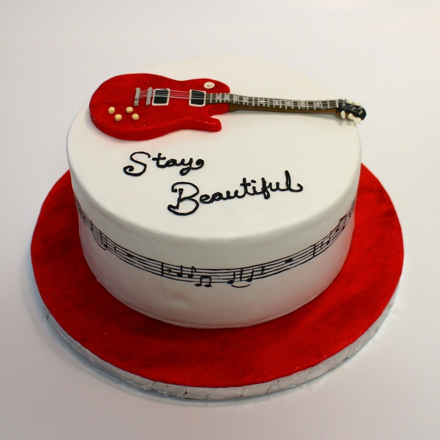 Taylor Swift Red Quot Stay Beautiful Quot Cake Cakecentral Com