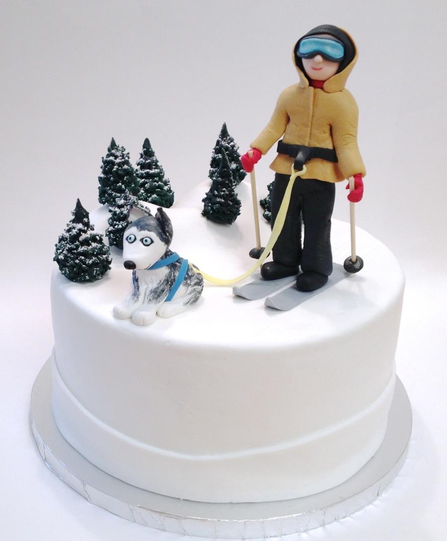Husky Dog Skiing Cake Cakecentral Com