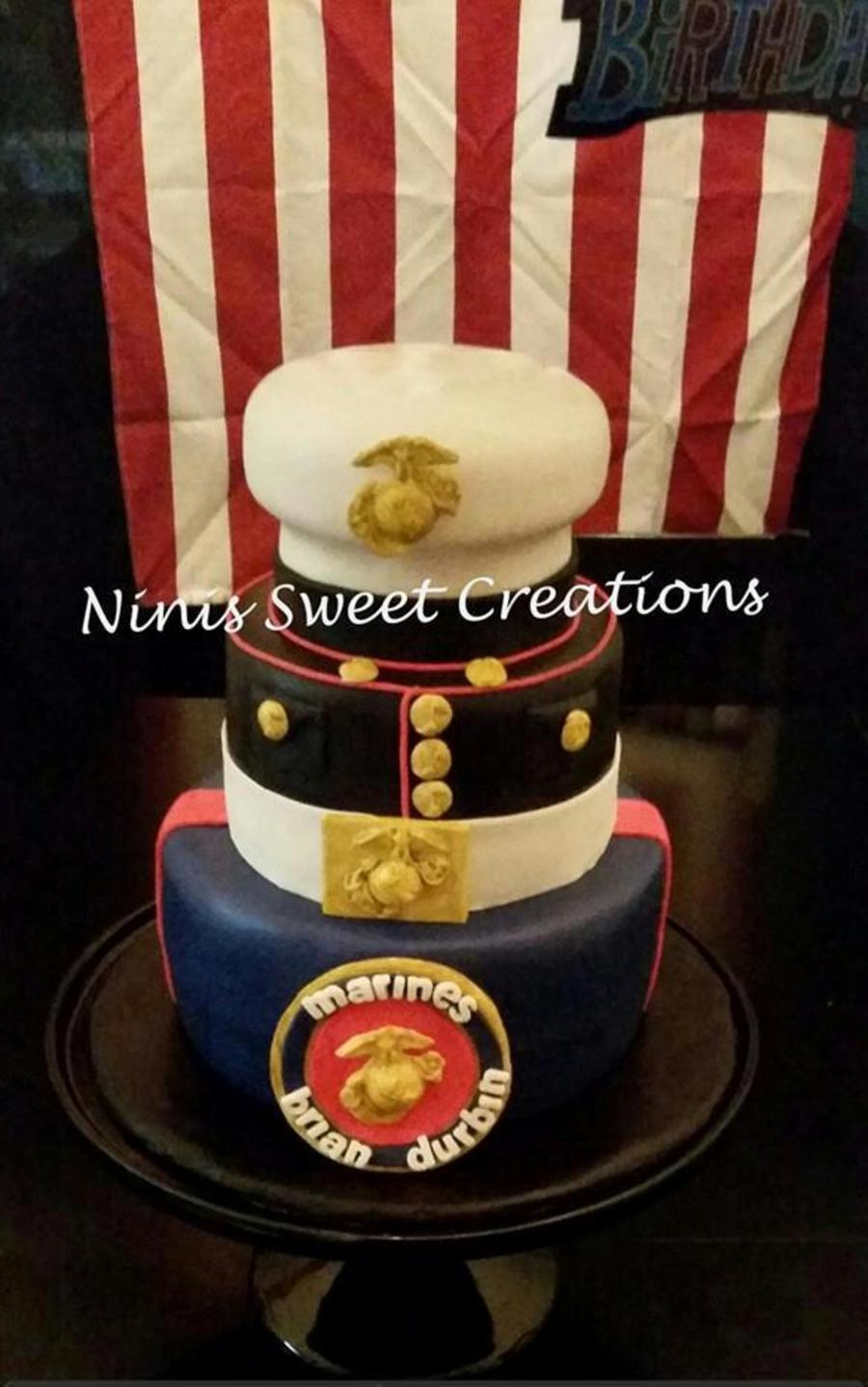 Usmc Dress Blues Cake Marine Corps Cakecentral