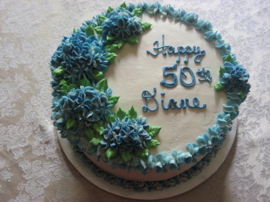 Blue Hydrangea Cake Cakecentral Com