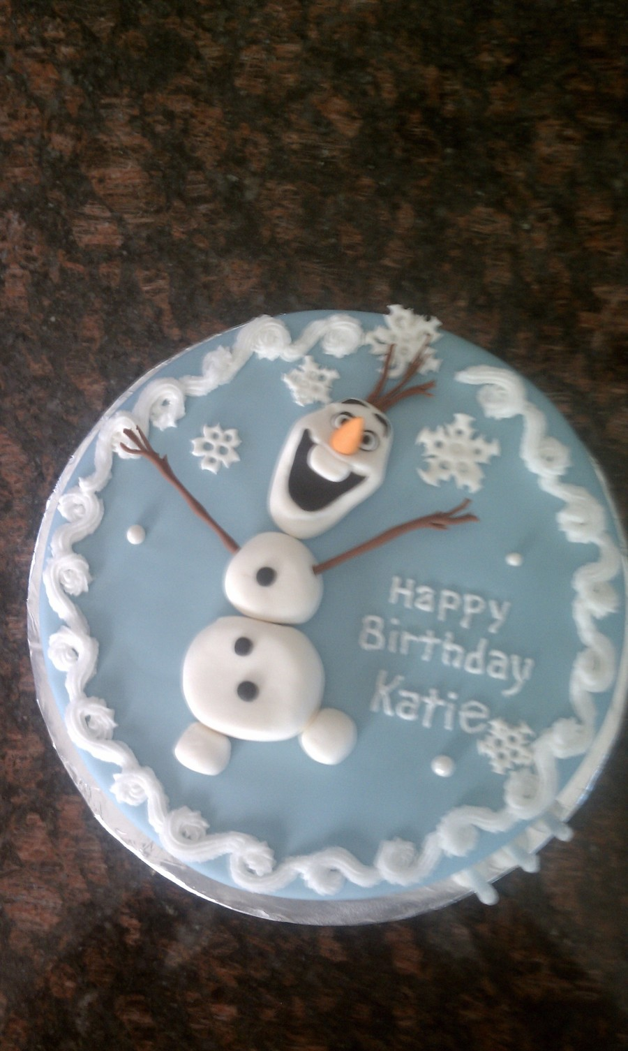 Birthday Cake For A 3 Year Old Who Loves Frozen