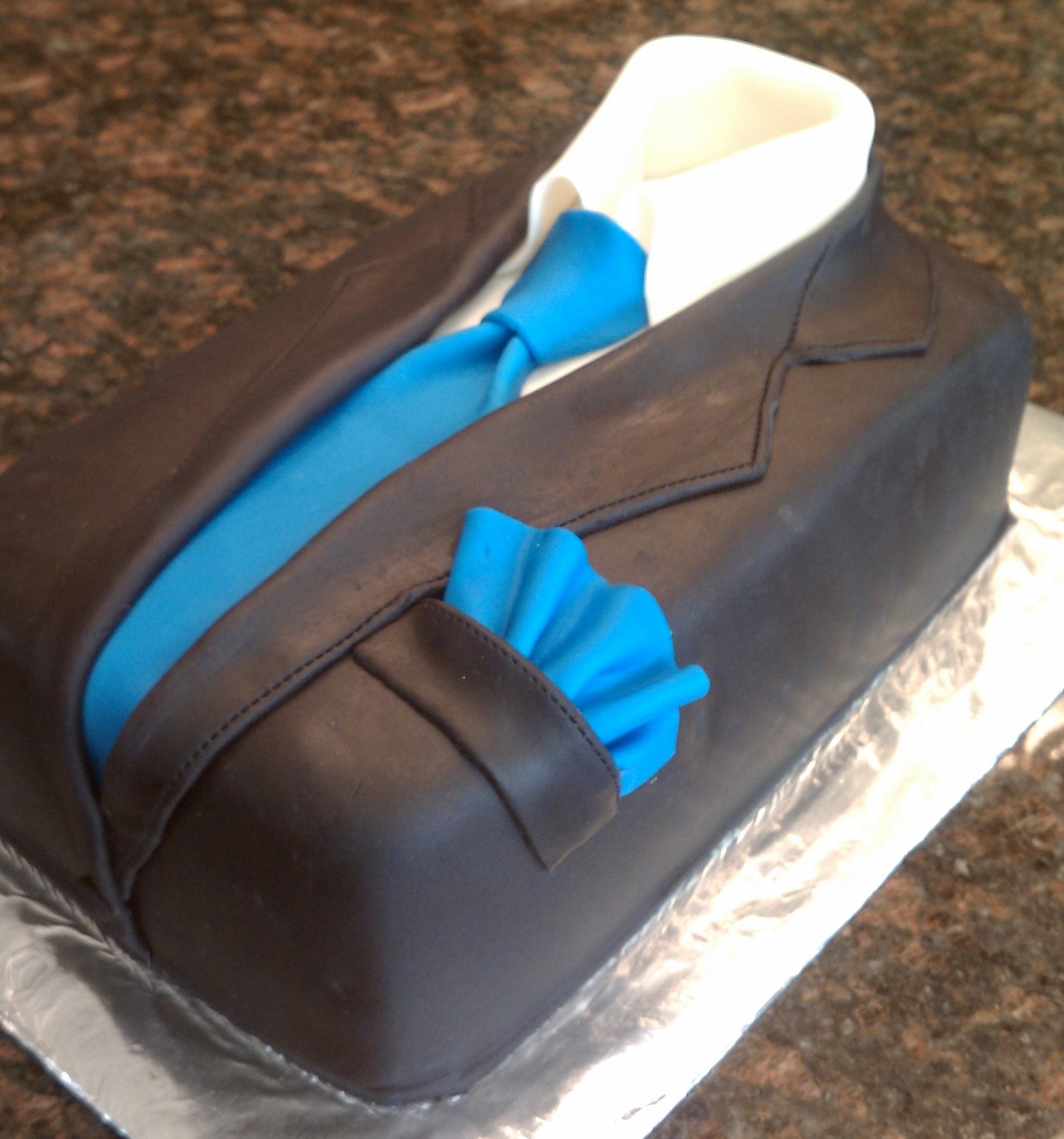 Suit And Tie Cake Tutorial
