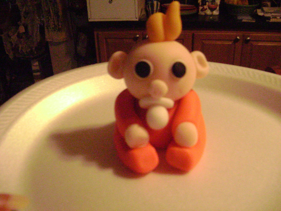Fondant Baby  on Cake Central