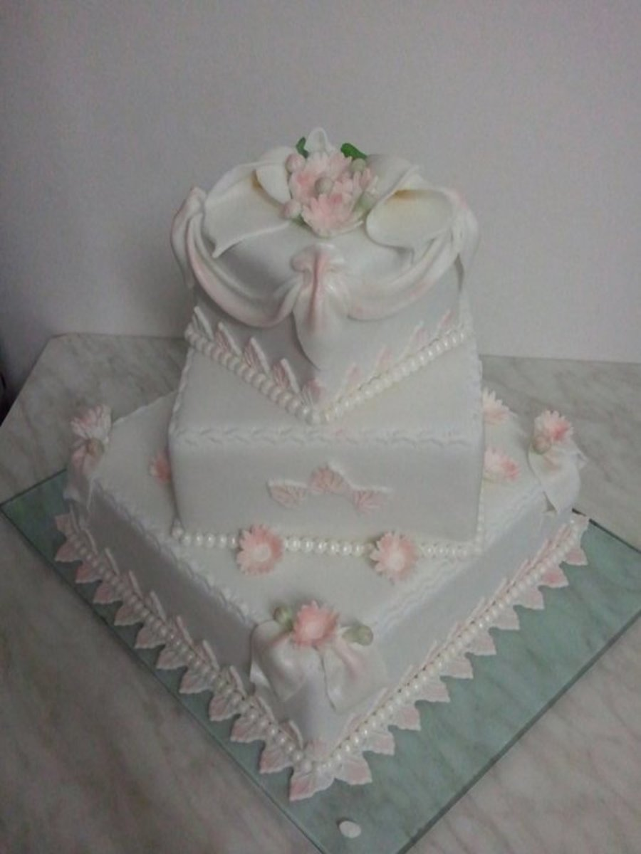 Romatic Wedding Cake on Cake Central