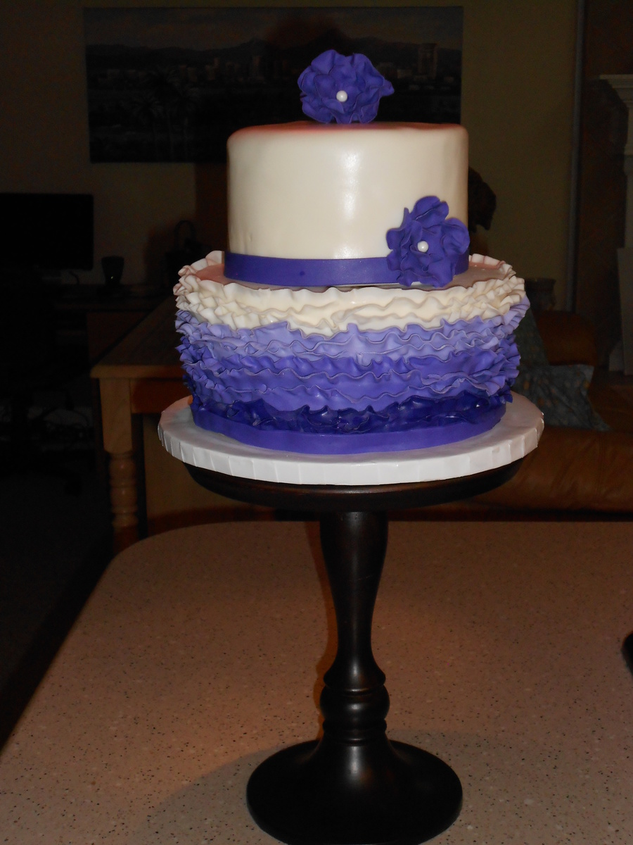 Purple Ruffles on Cake Central