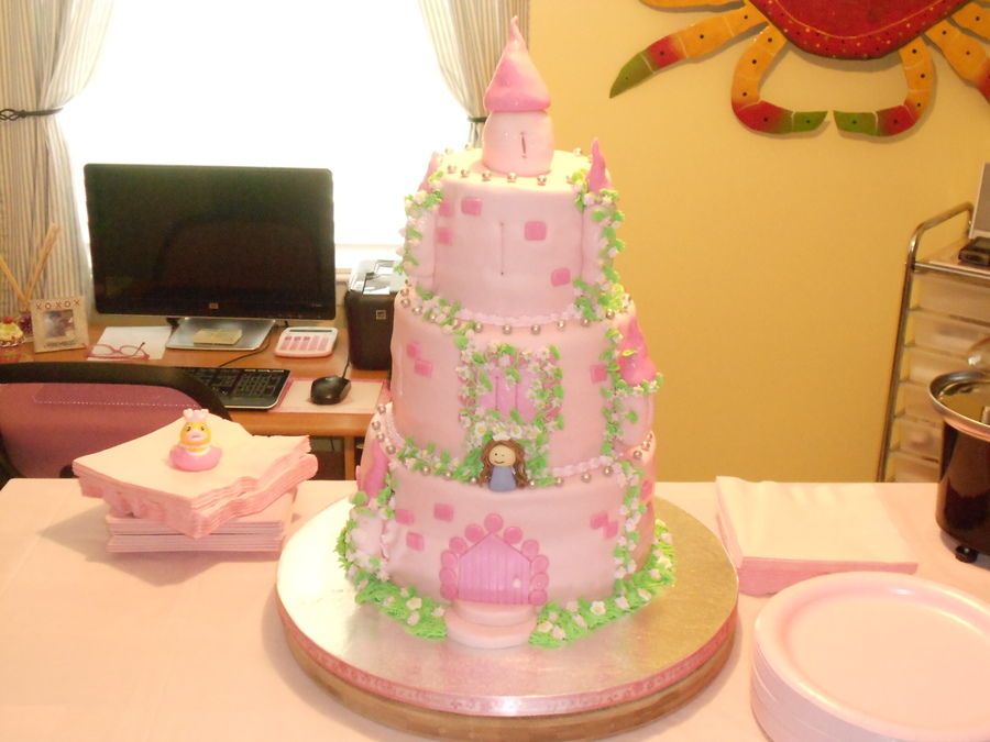 Castle Baby Shower Cake on Cake Central