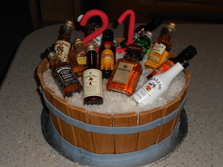 Barrel 21st Birthday Cakecentral Com