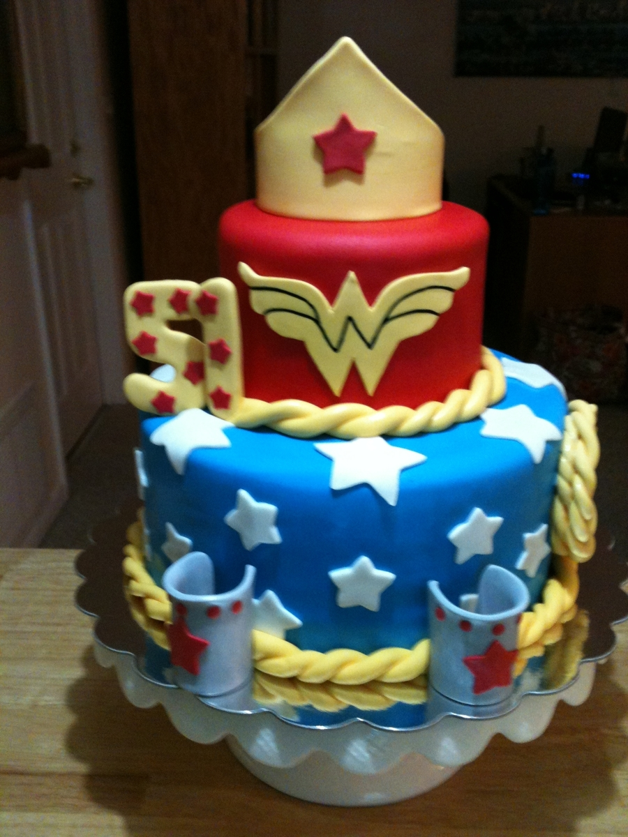 My Wonder Woman Birthday Cake Cakecentral Com