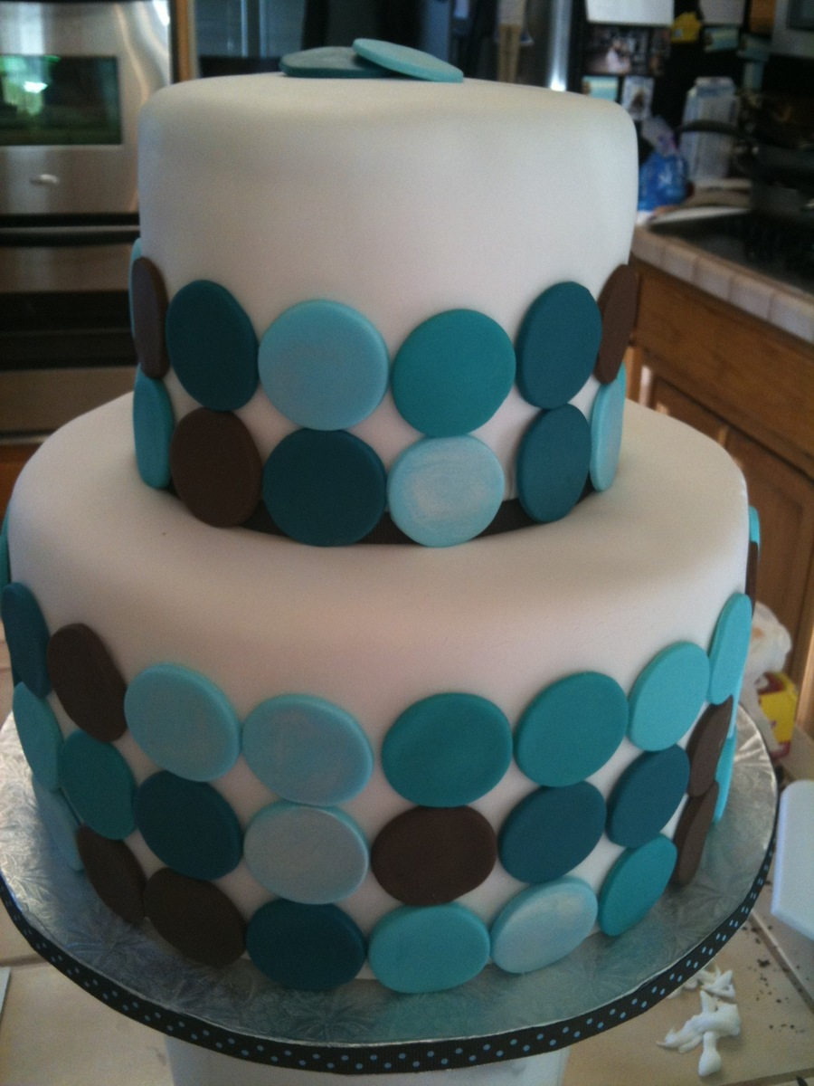 Two Tier With Circles on Cake Central