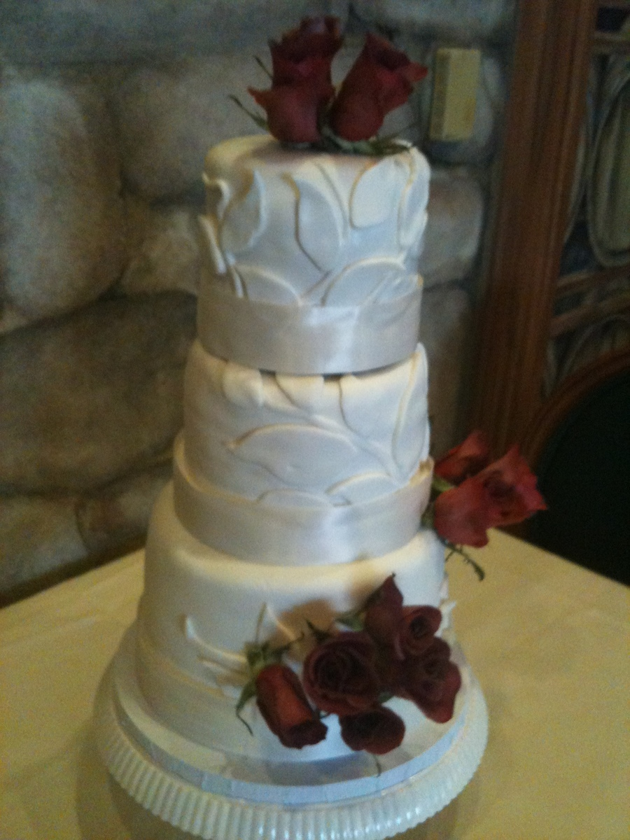 3 Tier Round Small Wedding Cake on Cake Central