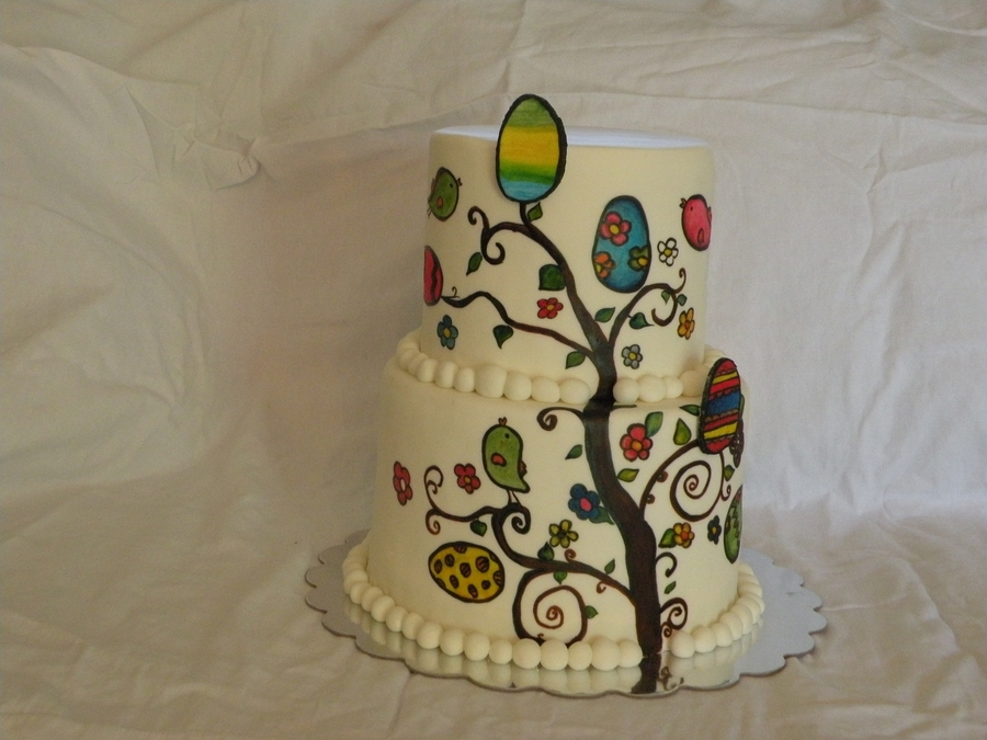 Easter Tree on Cake Central