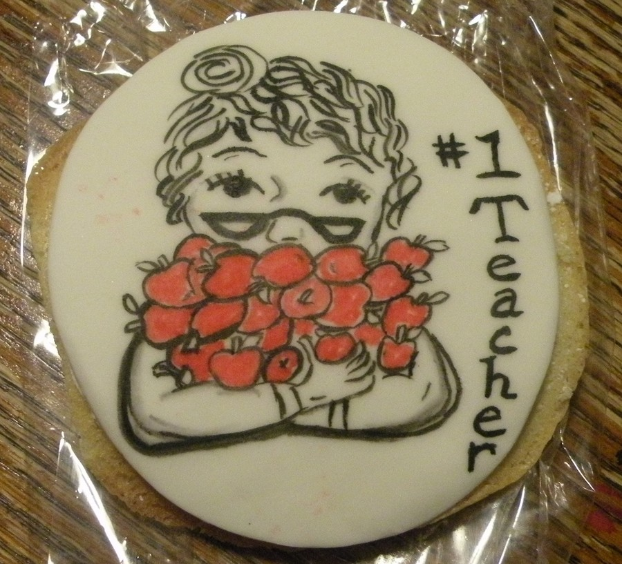 Handpainted Cookies For Teacher on Cake Central