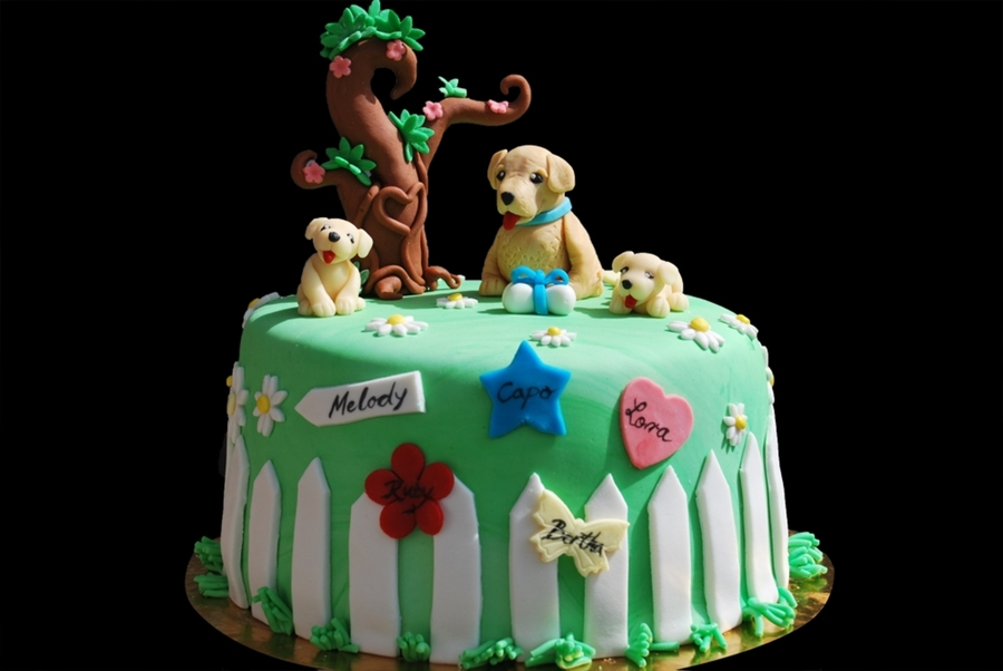 Golden Retriever Cake
