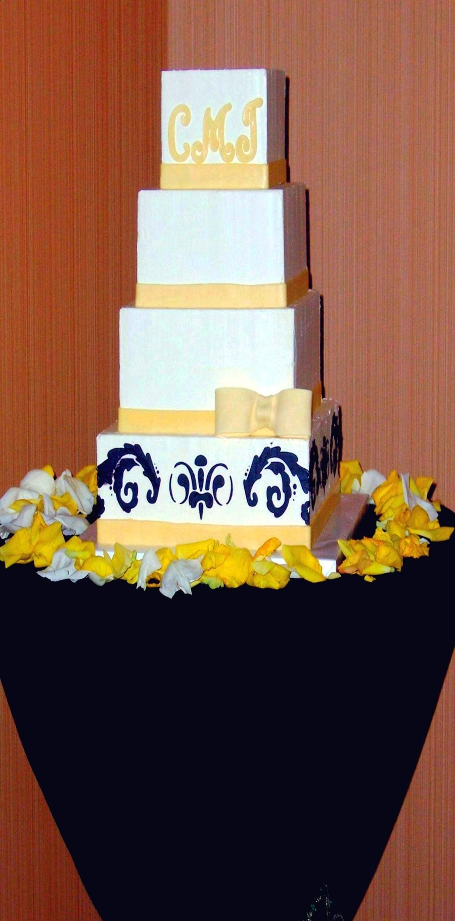 Tall Narrow Wedding Cake. on Cake Central