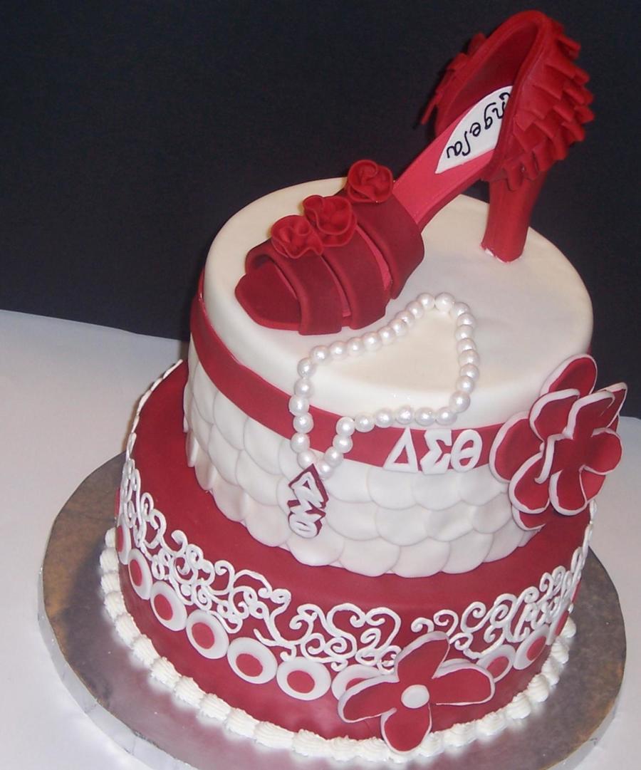 Delta Sigma Theta Wedding Cakes