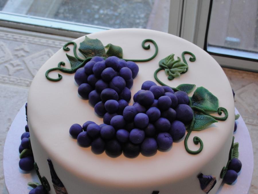 Birthday Wine And Cake