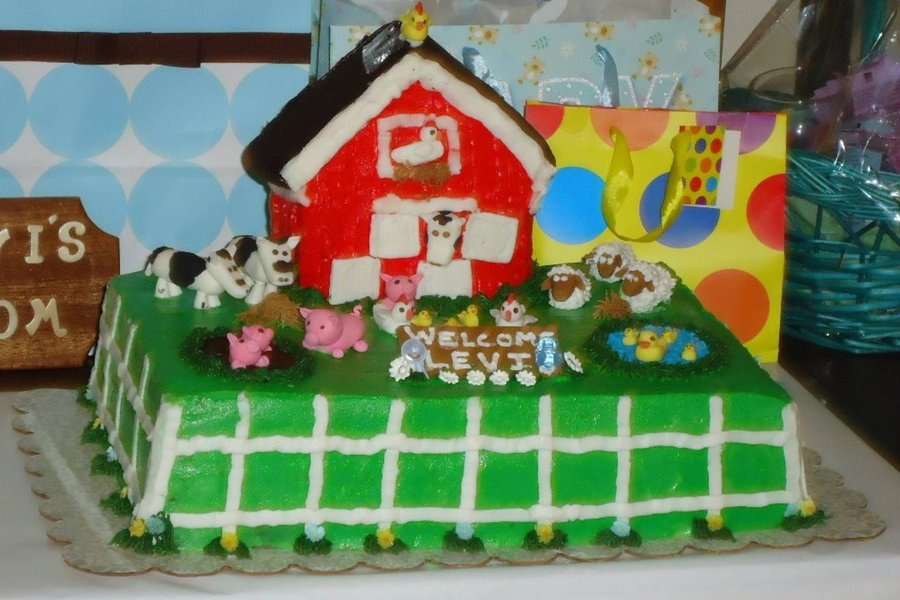 Baby Shower Farm Cake on Cake Central