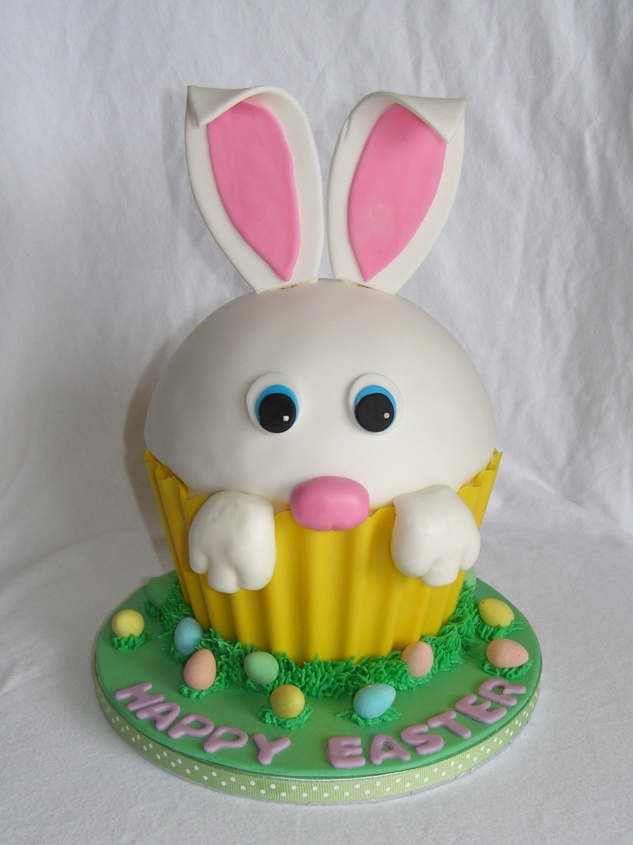 Easter Bunny Giant Cupcake on Cake Central