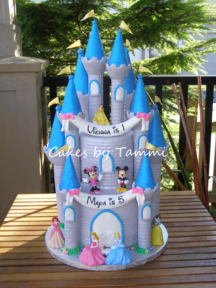Cool Disney Castle Cakecentral Com Personalised Birthday Cards Beptaeletsinfo