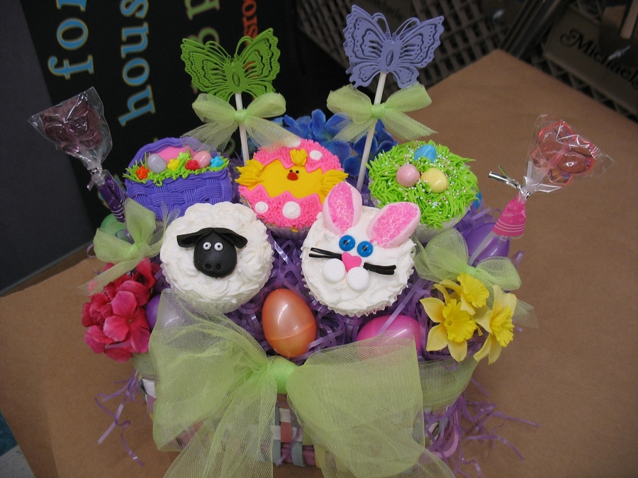 Easter Cupcake Bouquet on Cake Central
