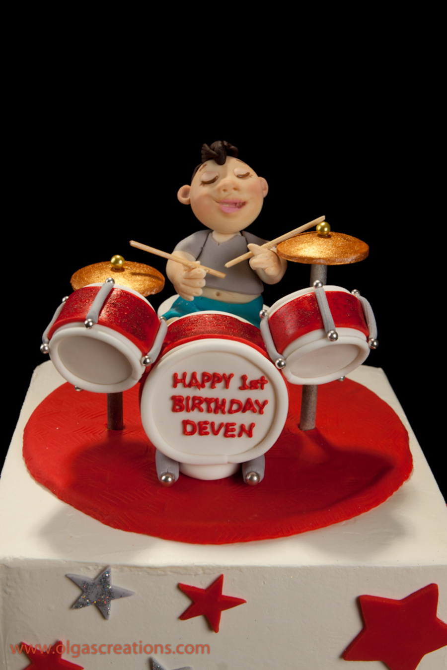 First Birthday Cake, Just A Drummer - CakeCentral.com
