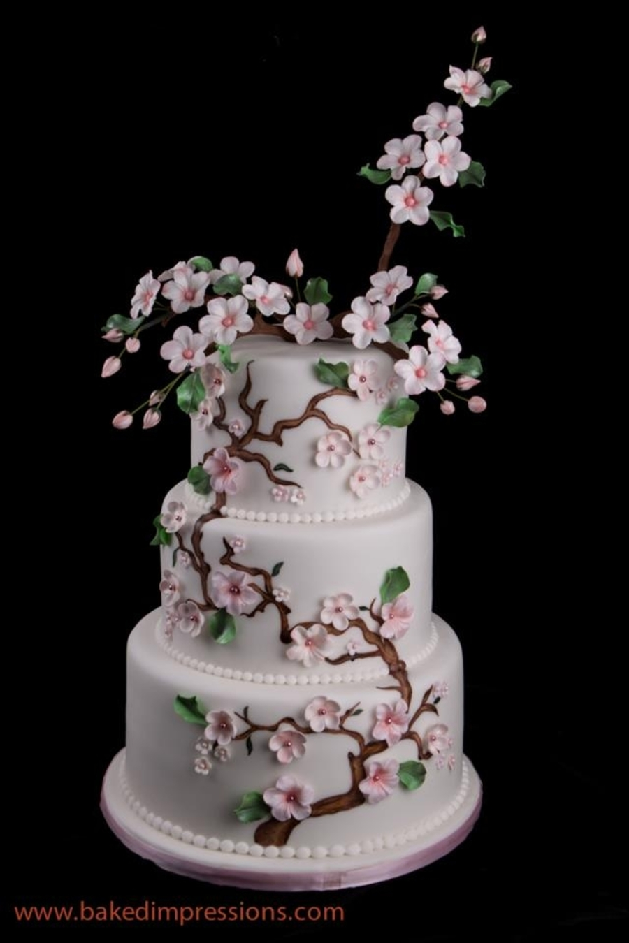 japanese cherry blossom wedding cake asian themed cherry blossom wedding cake cakecentral 16585