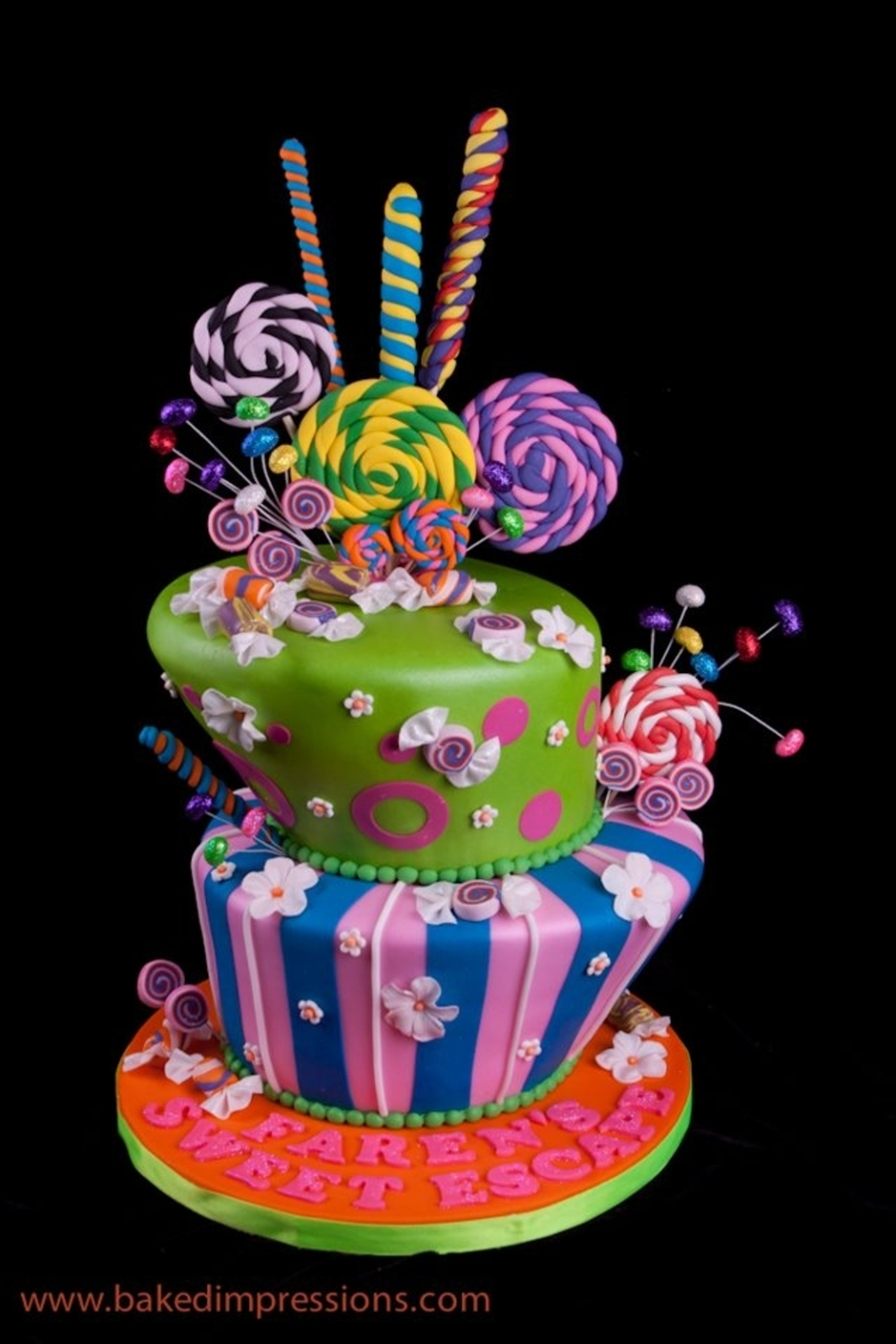Candy Themed Topsy Turvy Cake Cakecentral Com