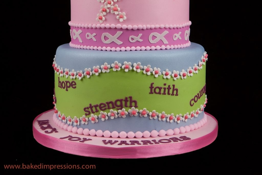 Cool Breast Cancer Fight Birthday Cake Cakecentral Com Personalised Birthday Cards Beptaeletsinfo
