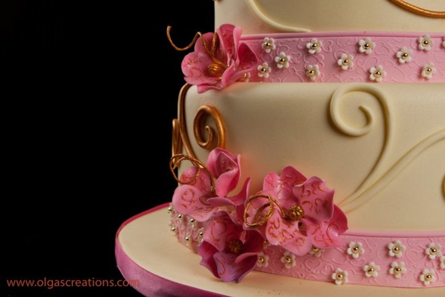 pink and yellow wedding cake ideas pink and yellow wedding cake cakecentral 18565