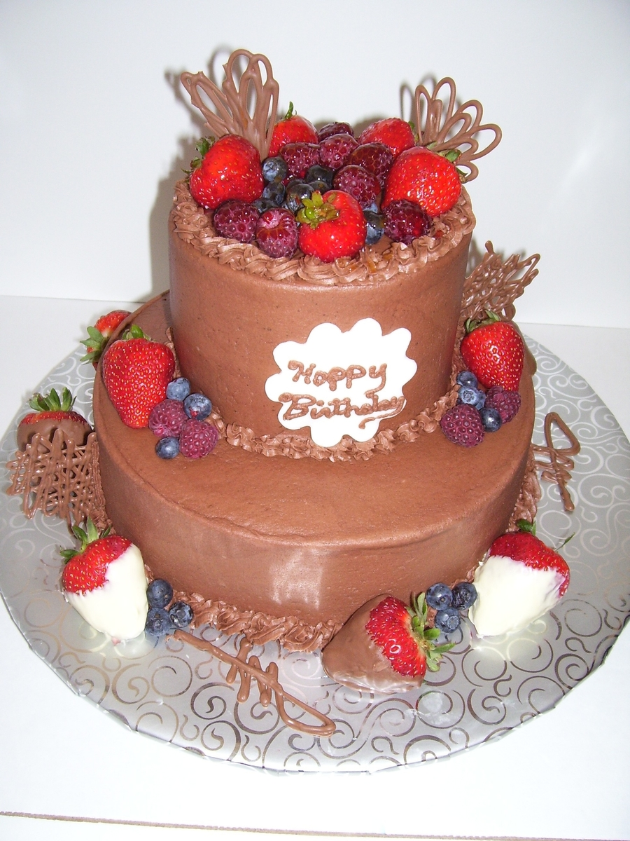 Chocolate Cake With Fresh Fruit on Cake Central