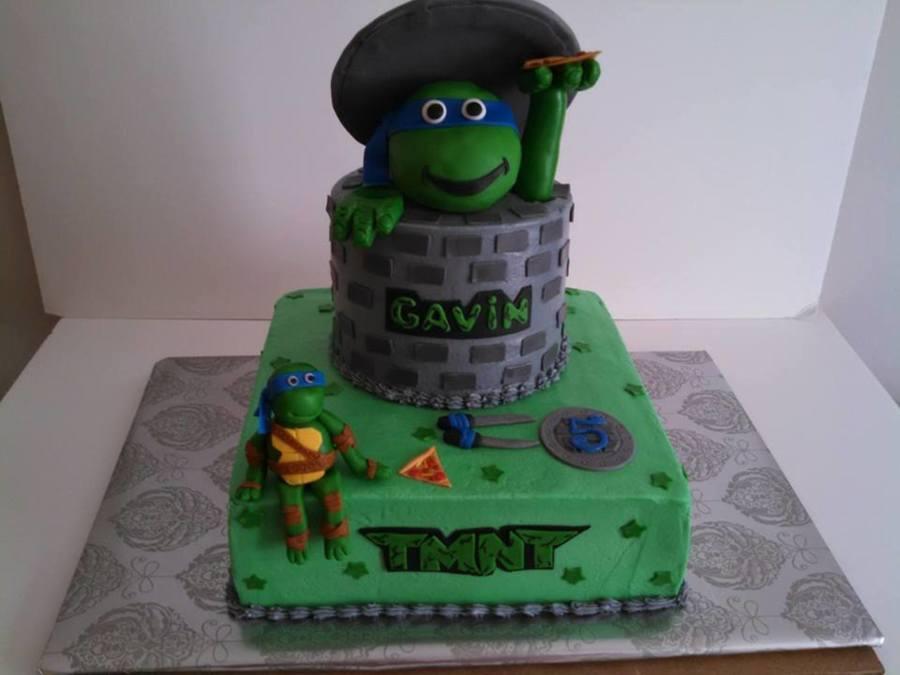 Fondant Decor On Buttercream Cake : 2Nd Ninja Turtle Cake, This One For Gavin, Turning 5 ...