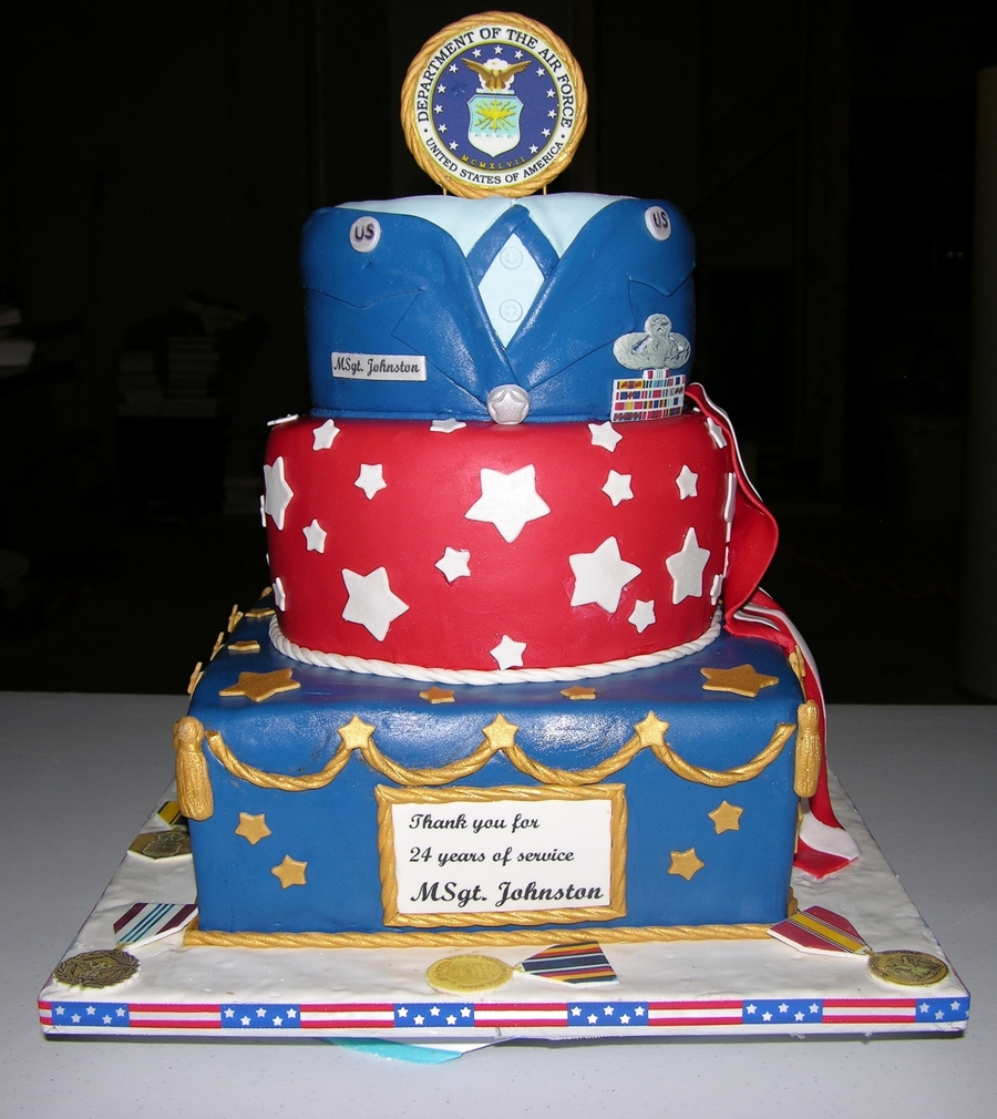 Air Force Cake Decorating Ideas
