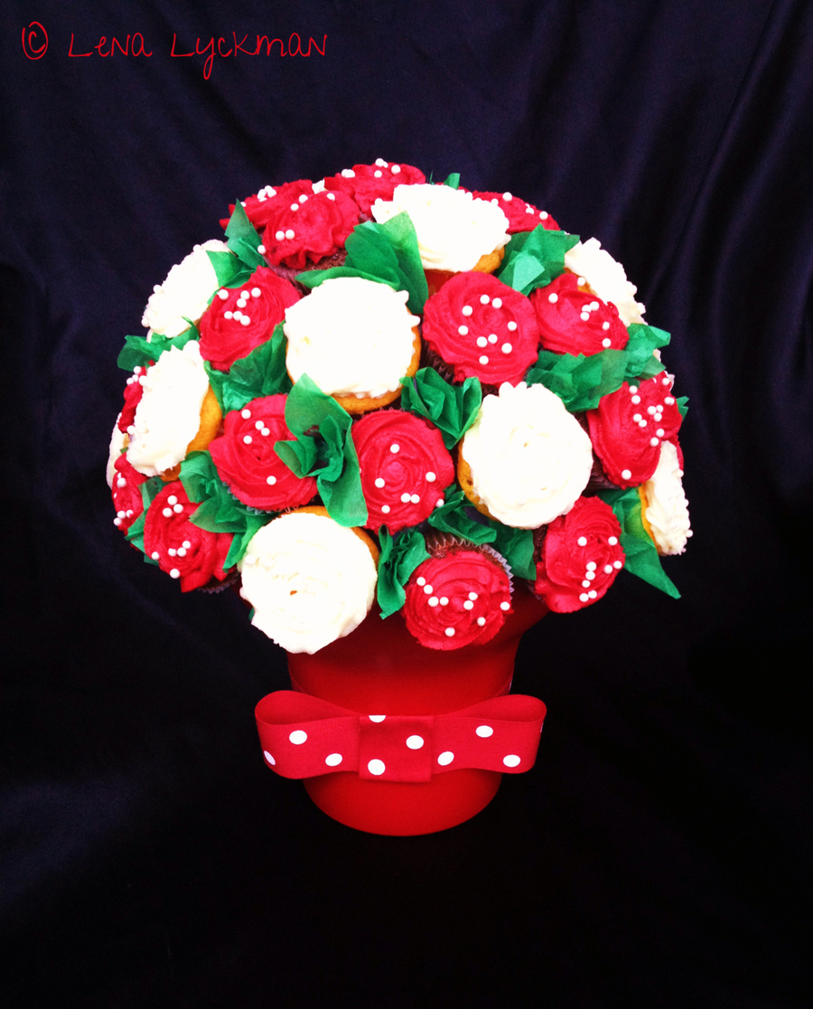 Christmas Cupcake Bouquet on Cake Central
