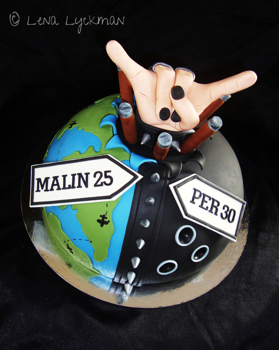 Travel/bowling/rock/cigar Cake on Cake Central