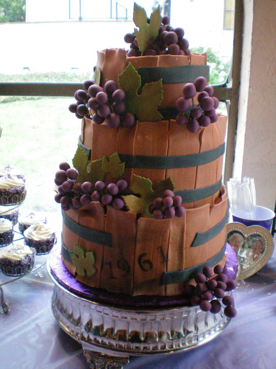 Age Like Wine 50th Birthday Cake Cakecentral Com