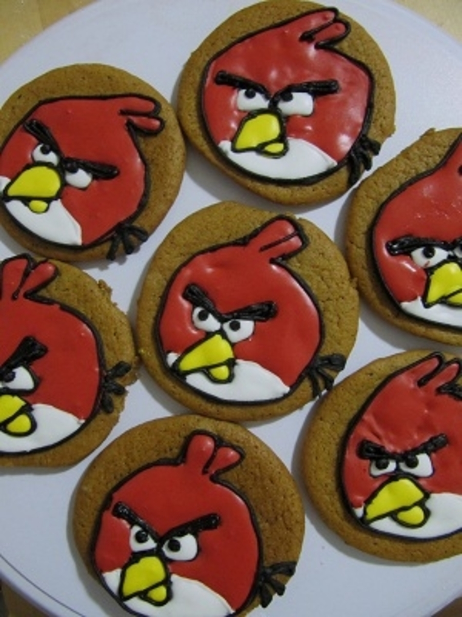 Angry Birds Cookies on Cake Central