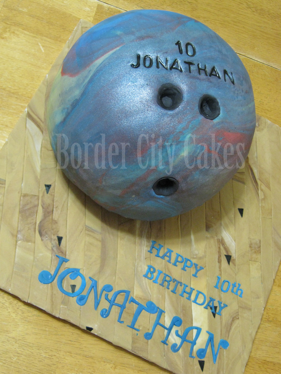 Bowling Ball Cake on Cake Central