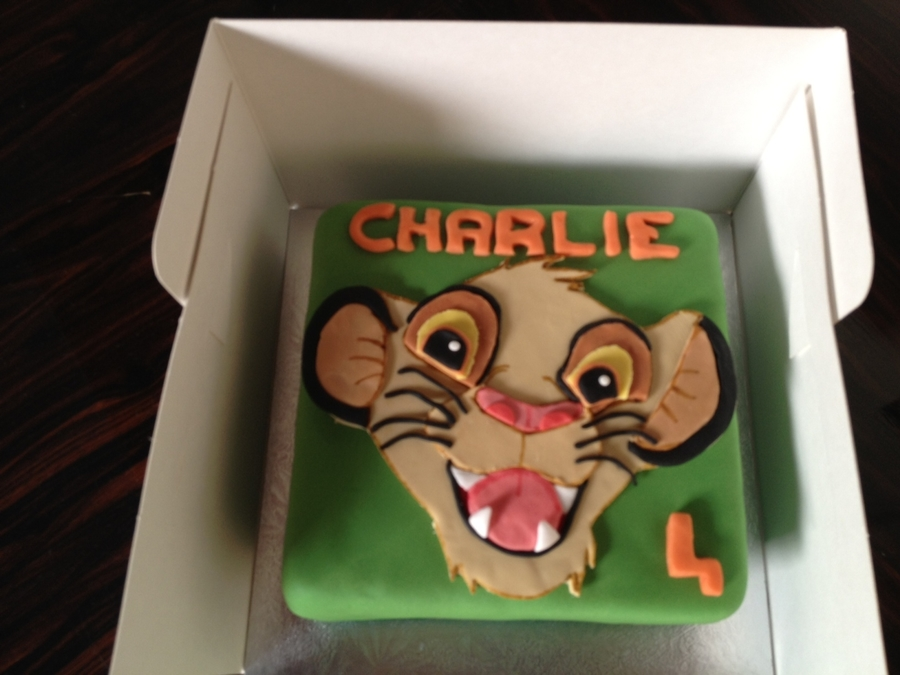 Simba Lion on Cake Central