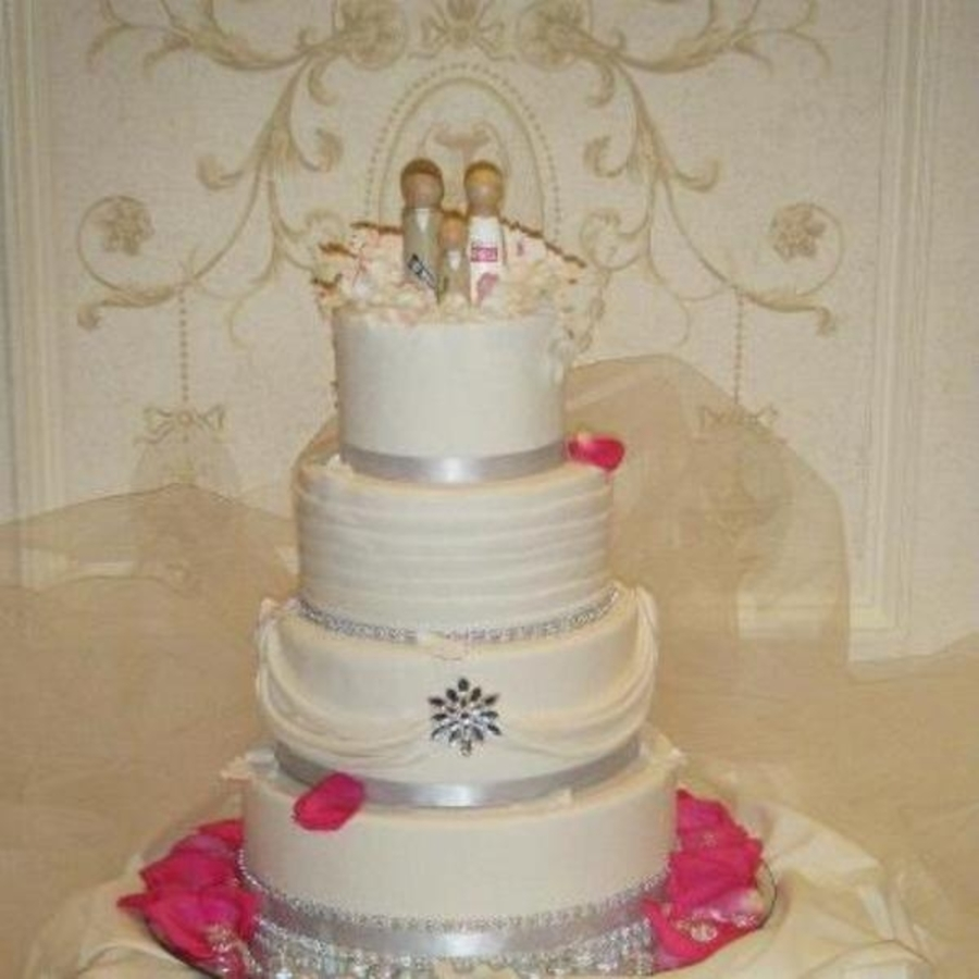 White Wedding With Bling on Cake Central