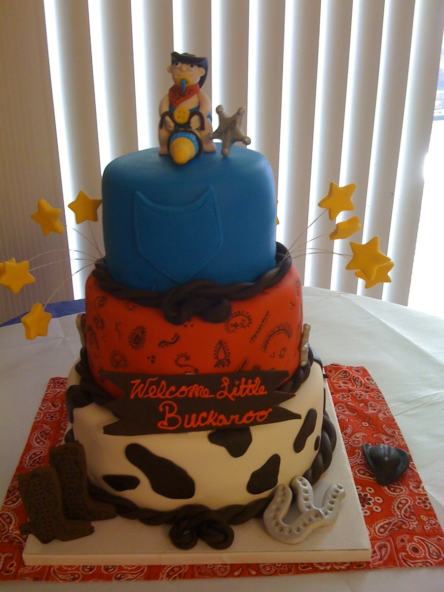 Cowboy Baby Cake on Cake Central