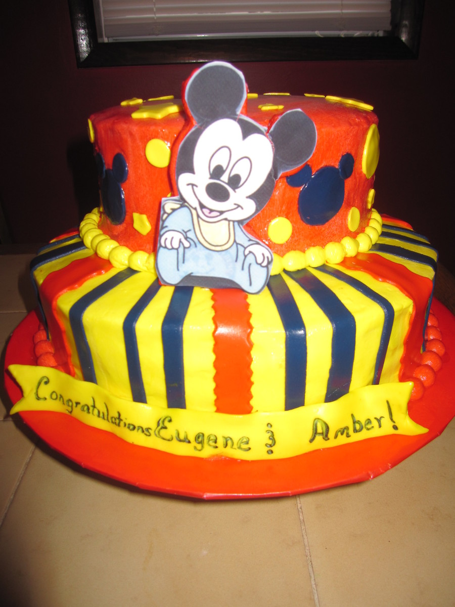 Baby Mickey on Cake Central