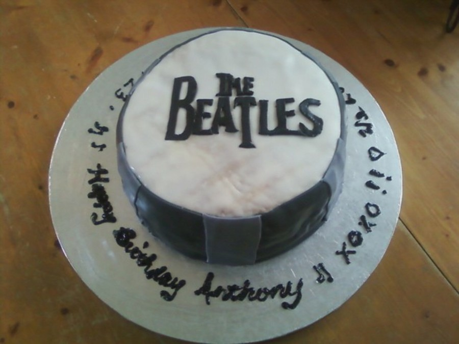 The Beatles Drum Cake on Cake Central