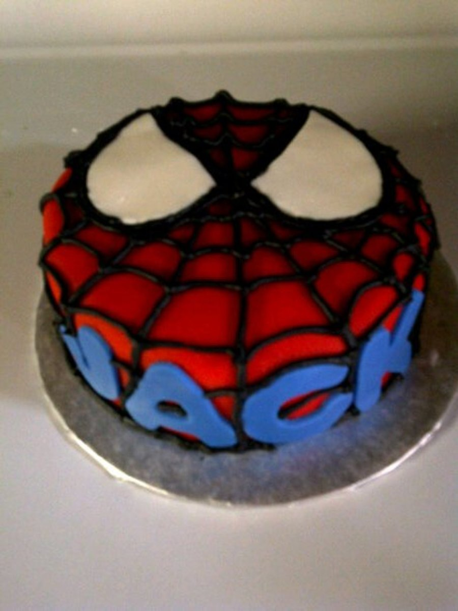 Spiderman Face - CakeCentral.com
