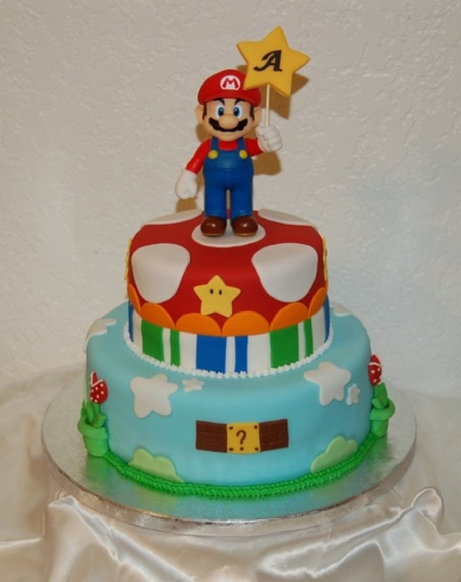 Mario Bros Grooms Cake!!! on Cake Central