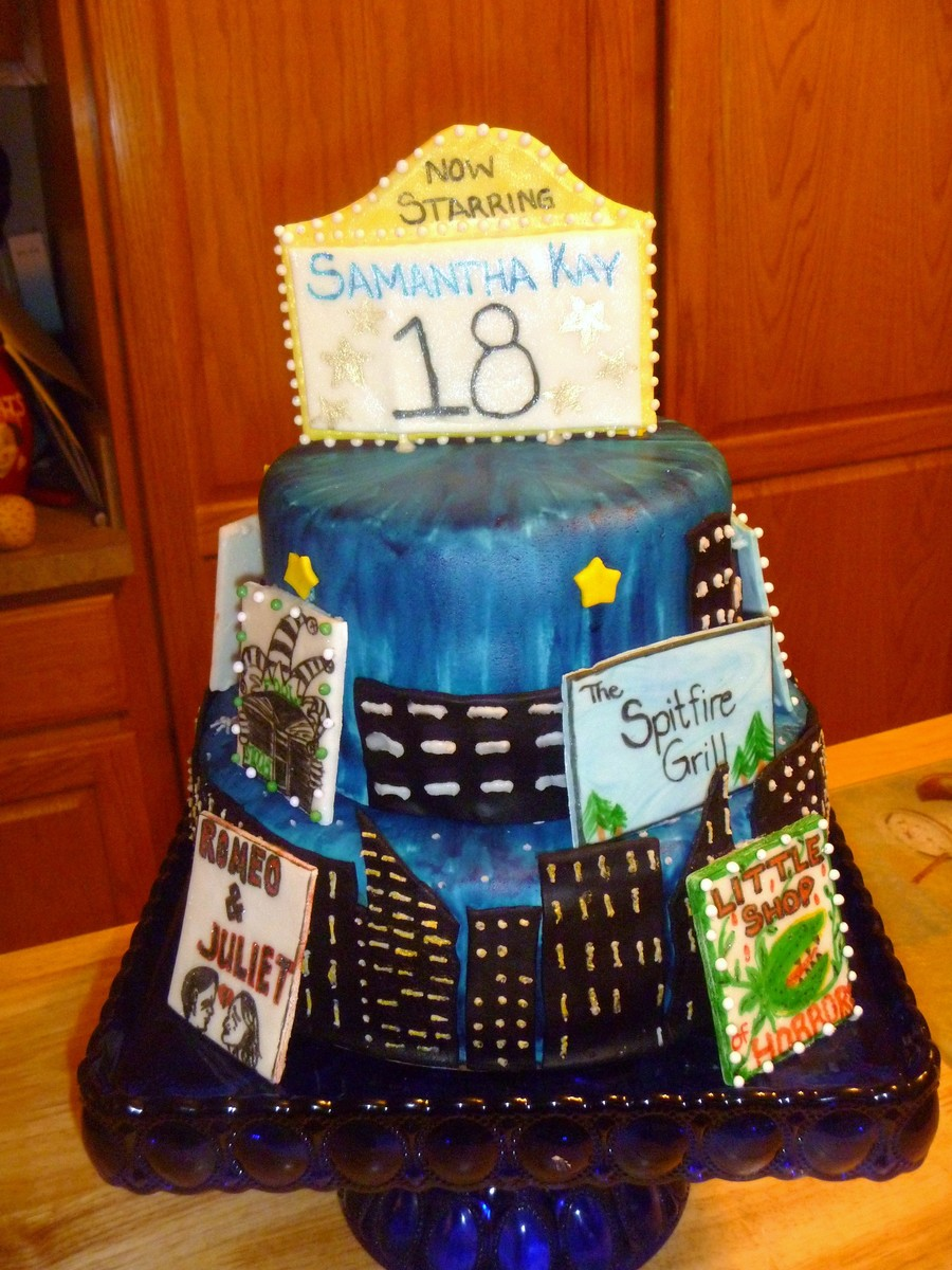 18th Birthday Drama Broadway New York Cakecentral Com
