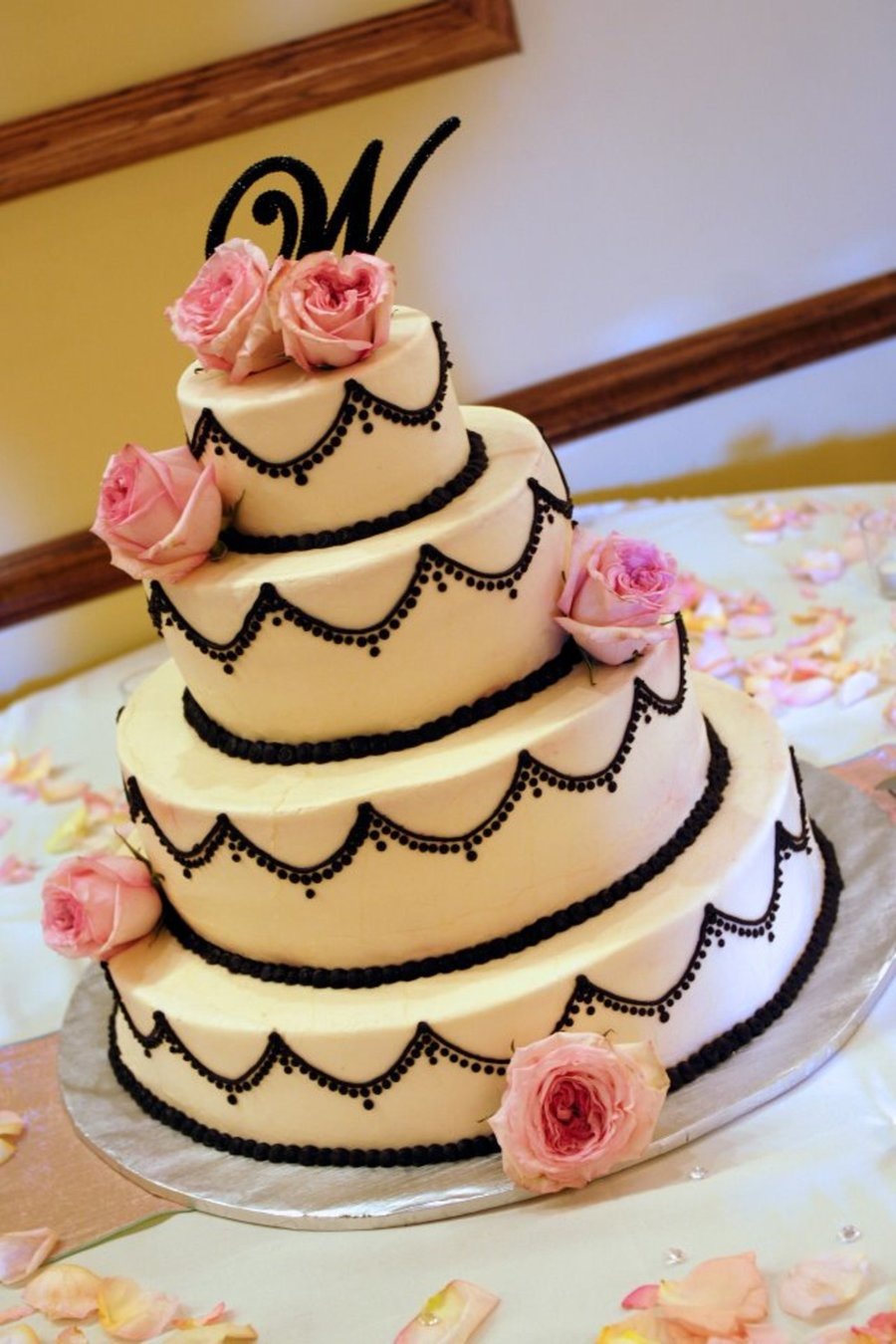 4-Tier Wedding Cake on Cake Central
