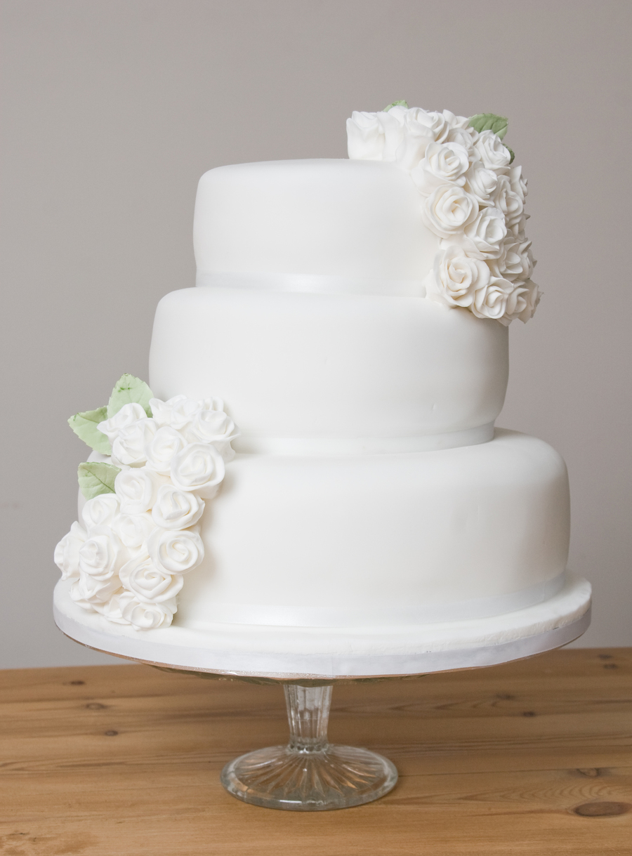 3 Tier Rose Wedding Cake - CakeCentral.com